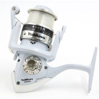 4000R 4.7:1 Gear Ratio 3 Ball Bearings Spinning Reel Fishing Reel White Silver Tone