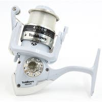 4000R 4.7:1 Gear Ratio 3 Ball Bearings Spinning Reel Fishing Reel White Silver Tone