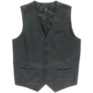 Perry Ellis Mens Solid Adjustable Suit Vest