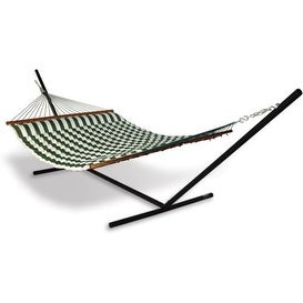 Hammaka Strong & Durable Universal Hammock Stand w/ Green Pillow Hammock Outdoor