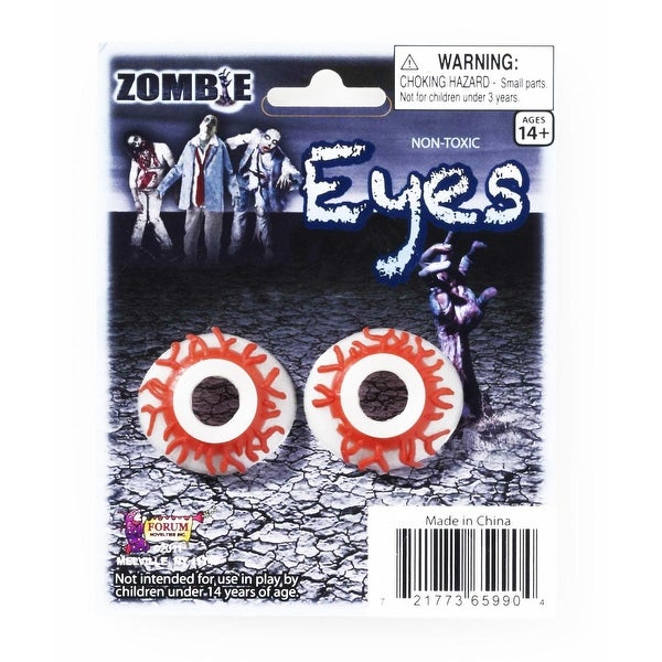Zombie Eyes Costume Eyewear Accessory - Red