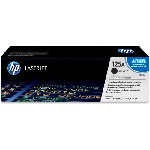HP 125A Black Original LaserJet Toner Cartridges (CB540A)(Single Pack)
