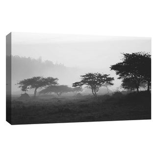 """PTM Images 9-126725  PTM Canvas Collection 10"""" x 8"""" - """"Gray Sunset II"""" Giclee Safari Art Print on Canvas"""