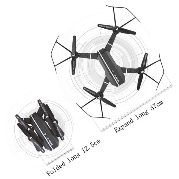 DRONE RC Helicopter FPV HD Camera 2.4Ghz 4CH Mini WIFI Portable Folding Toys UT
