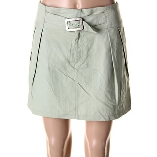 Nanette Lepore Womens Pleated Solid Mini Skirt - 2