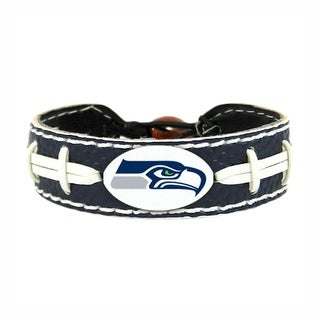 Seattle Seahawks Team Color NFL Gamewear Leather Football Bracelet
