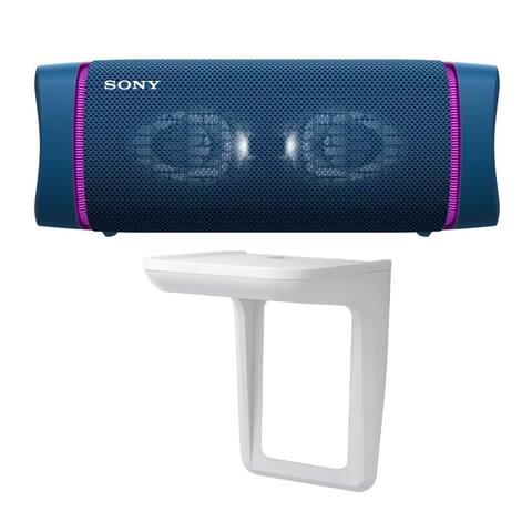 Sony SRSXB33 EXTRA BASS Bluetooth Portable Speaker (Blue) Bundle