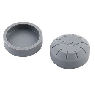 Concert KTV Wireless Microphone Battery Screw End Cover Gray 1.2 Inch Dia 2pcs