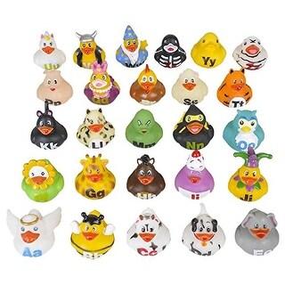 """Rhode Island Novelty 2"""" Alphabet Rubber Ducks (26 Piece)"""
