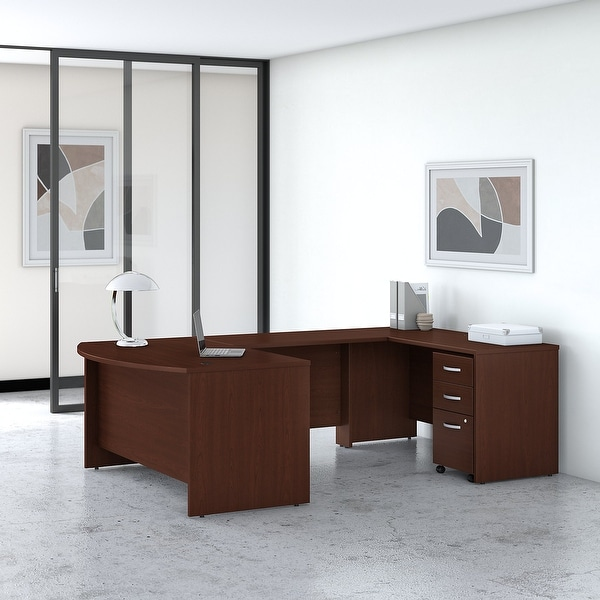 Studio C 60W U Shaped Desk with Drawers by Bush Business Furniture. Opens flyout.