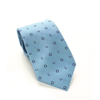 John Forsyth Petrol Blue Men's One Size Mini Paisley Silk Neck Tie