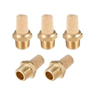 """Brass Exhaust Muffler, 1/8"""" G Male Thread Bronze Muffler with Brass Body 5pcs - 1/8"""" G 5pcs"""