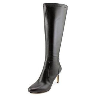 Nine West Hold Tight Round Toe Leather Knee High Boot