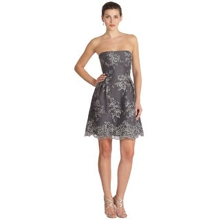 ML Monique Lhuillier Strapless Fit & Flare Strapless Lace Overlay Dress - 12