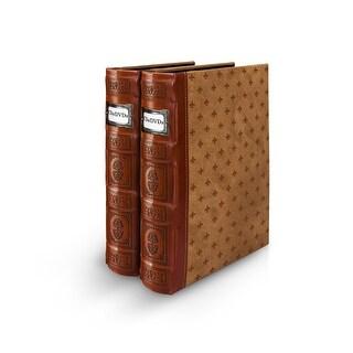 Bellagio-Italia Tuscany DVD Binder- Cognac 2-Pack