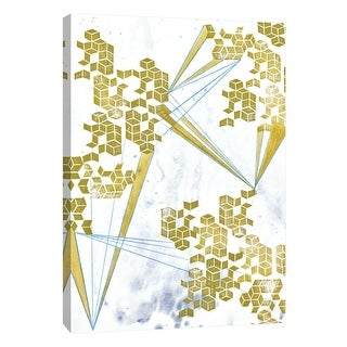 """PTM Images 9-108618  PTM Canvas Collection 10"""" x 8"""" - """"Golden Fractals 5"""" Giclee Abstract Art Print on Canvas"""