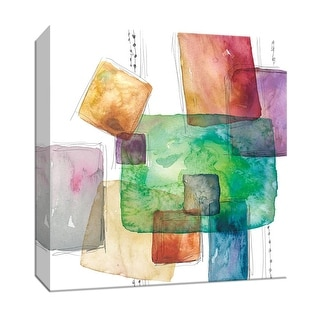 """PTM Images 9-147784  PTM Canvas Collection 12"""" x 12"""" - """"Color Blocks"""" Giclee Patterns and Designs Art Print on Canvas"""