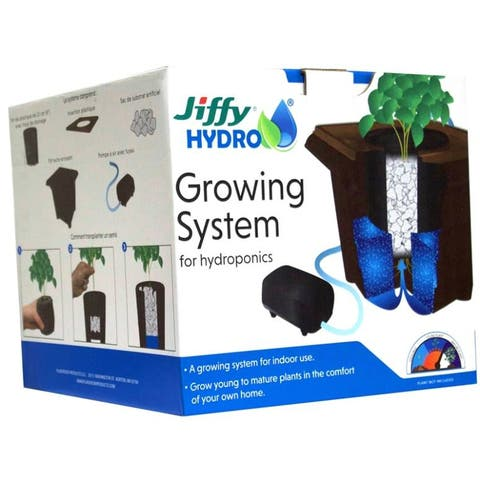 Jiffy JHGROW-6 Hydro Growing System for Hydroponics, 4 Qt