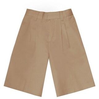 Khaki Basic Pleat Front School Uniform Boys Shorts 8-16