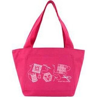 "Hot Pink - K1c2 Quilt Happy Petite Project Bag 13""X8""X5"""