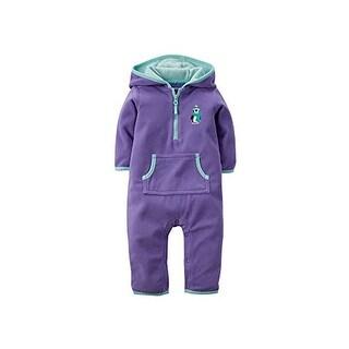 Carter's Baby Girls' Hooded Fleece Jumpsuit Romper 18 Months Purple