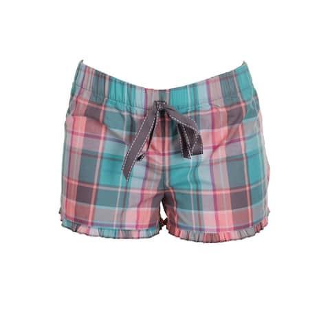 Jenni Green Pink Plaid Boxer Pajama Shorts S
