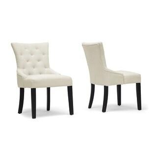 Epperton Beige Linen Modern Dining Chair - 2 Chairs