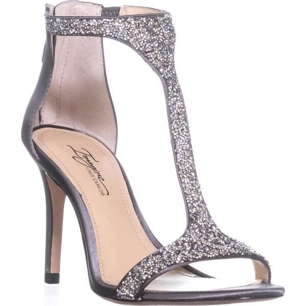 Imagine by Vince Camuto Phoebe T-Strap Sandals, Storm Grey/Platinum