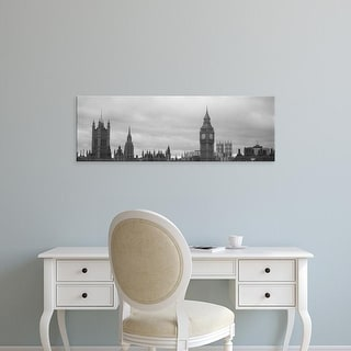 Easy Art Prints Panoramic Image 'Big Ben, Houses Of Parliament, Westminster, London, England' Canvas Art