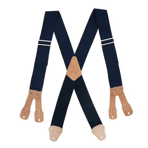 CTM® Men's Big & Tall Non-Elasticized Button End Work Suspenders - one size