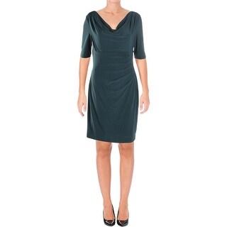 Lauren Ralph Lauren Womens Petites Wear to Work Dress Knee-Length Elbow Sleeve