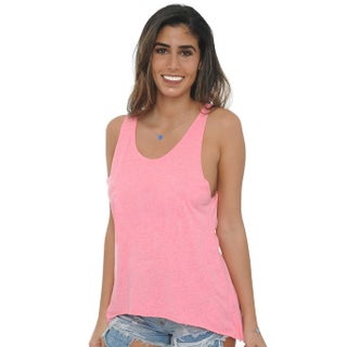 Women's Tank Top Heather Twisted Open Back Lose Fit Sexy Athletic Wear (More options available)