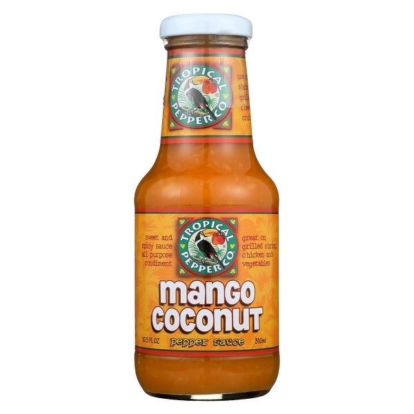 Tropical Pepper Sauce - Mango Coconut Grill - Case of 12 - 10.5 fl oz