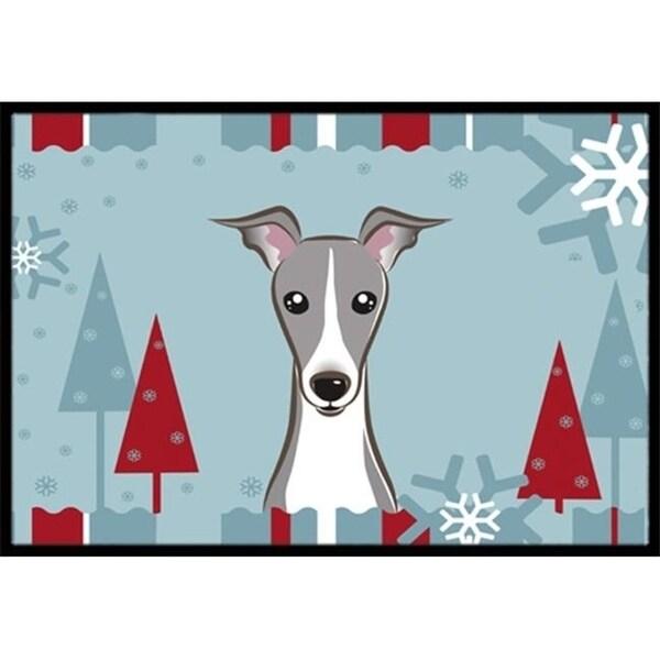 Carolines Treasures BB1732MAT Winter Holiday Italian Greyhound Indoor & Outdoor Mat 18 x 27 in.