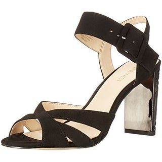 Nine West Womens crossroad Leather Open Toe Ankle Strap Classic Pumps