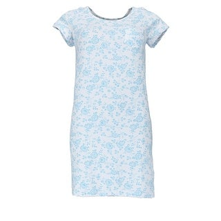 Sag Harbor Women's Floral Knit Nightgown Sleep Shirt with Stretch
