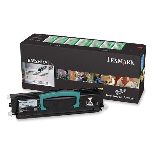 Lexmark E352H11A Lexmark High Yield Black Toner Cartridge - Black - Laser - 9000 Page - 1 Each