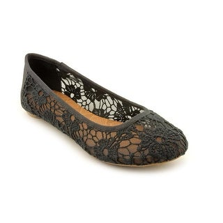 Lucky Brand Elisabeta Women Round Toe Canvas Black Flats