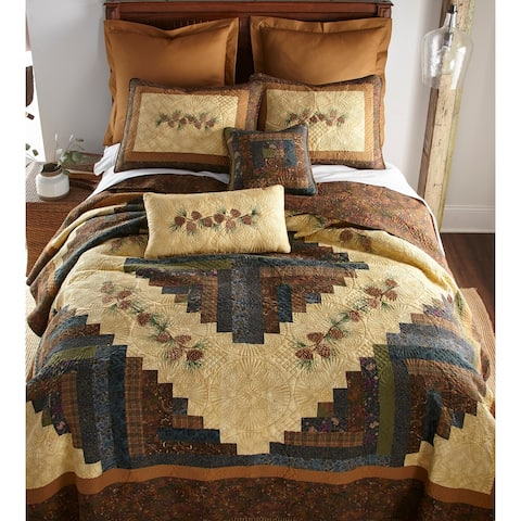 Donna Sharp's Cabin Raising Pinecone Quilt Set