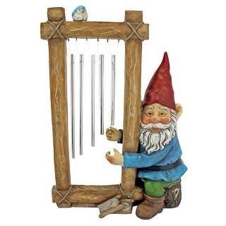 Design Toscano Ringing His Chimes Garden Gnome Statue