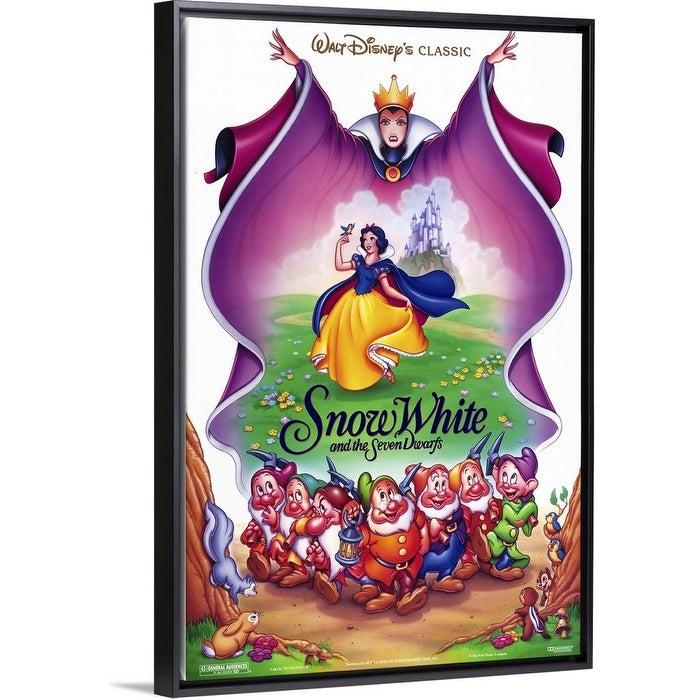 Shop Black Friday Deals On Snow White And The Seven Dwarfs 1937 Black Float Frame Canvas Art Overstock 25510938