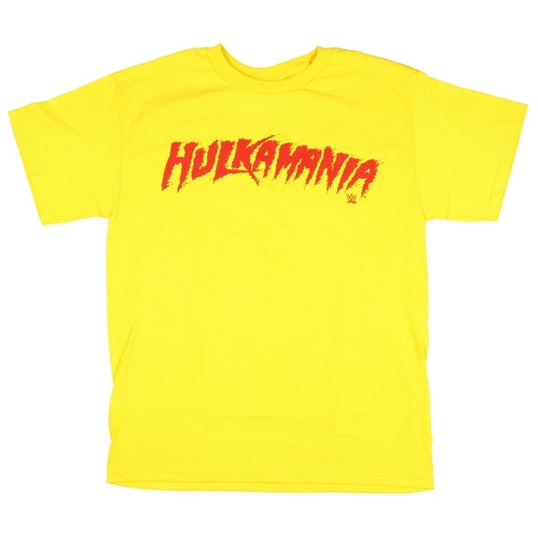 0474a240e0af Shop WWE Men s Hulkamania Hulk Hogan Yellow and Red T-Shirt - Free Shipping  On Orders Over  45 - Overstock - 22515646