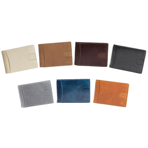 Cazoro Mens Hunter Leather RFID Bifold Trifold Card ID Wallet W// Coin Pocket