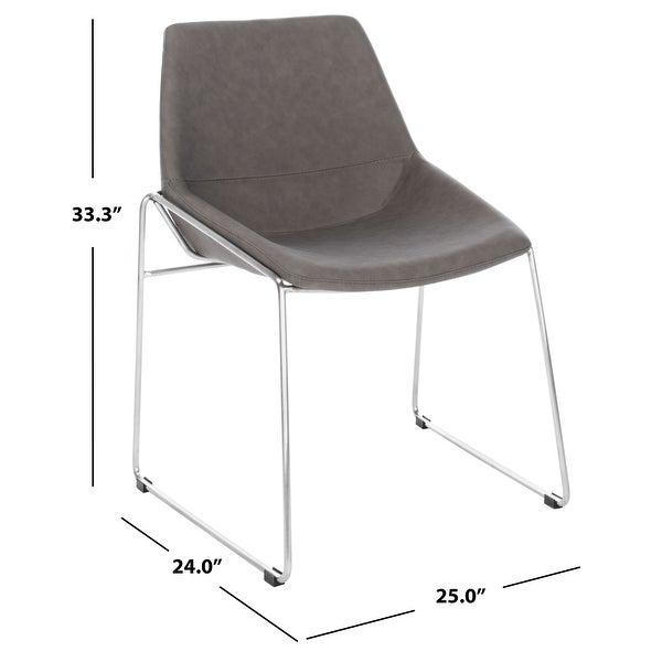 "Safavieh Alexis Mid Century Dining Chair (Set of 2) - 25"" x 24"" x 33.3"" - 25"" x 24"" x 33.3"""