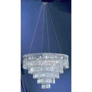 """Classic Lighting 69795-CH 16"""" Crystal Chandelier from the Sofia Collection"""