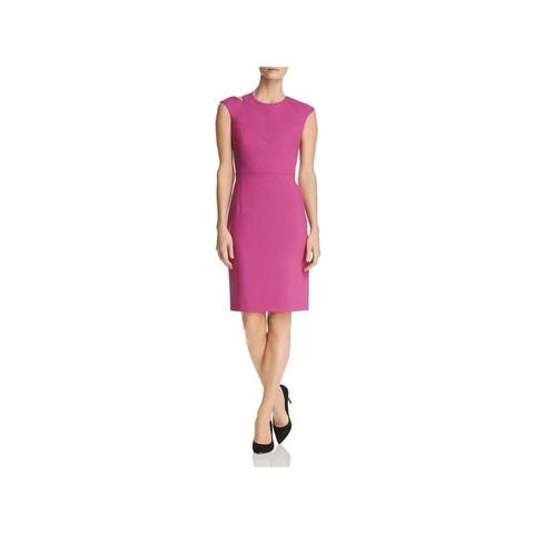 BOSS Hugo Boss Womens Danouk Cocktail Dress Shoulder Cutout Cap Sleeve