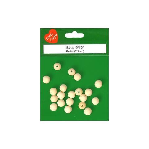 Lara's Wood Pkg Round Beads 8mm 20pc
