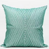 """G Home Collection Luxury Lack Blue Handmade X Shape Textured Beaded Pillow 20""""X20"""""""