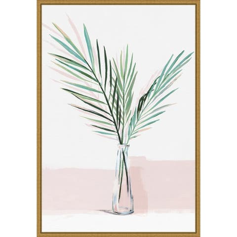 Sunday Bliss (Palm frond) by Isabelle Z Framed Canvas Art