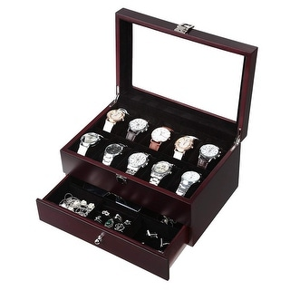 Link to Wooden Watch Box 10 Slots 4 multi-functional parts Jewelry Organizer Storage Case Similar Items in Watch Accessories